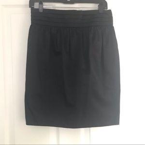 Club Monaco Black Skirt Sz 4 Pleated High Waist